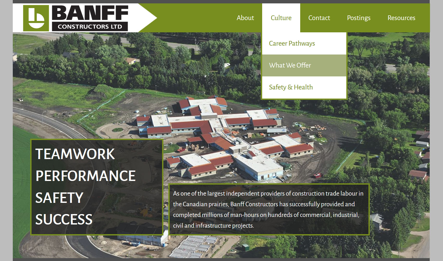 Banff Constructors Homepage